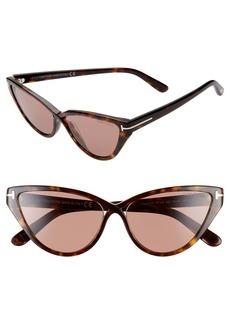 Tom Ford Charlie 55mm Cat Eye Sunglasses