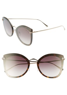 Tom Ford 62mm Oversize Butterfly Sunglasses