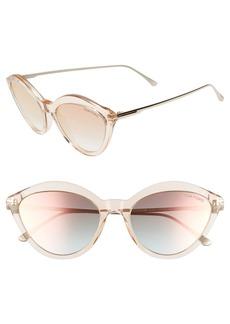 Tom Ford Chloe 57mm Cat Eye Sunglasses
