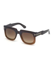 TOM FORD Christian Square Gradient Sunglasses