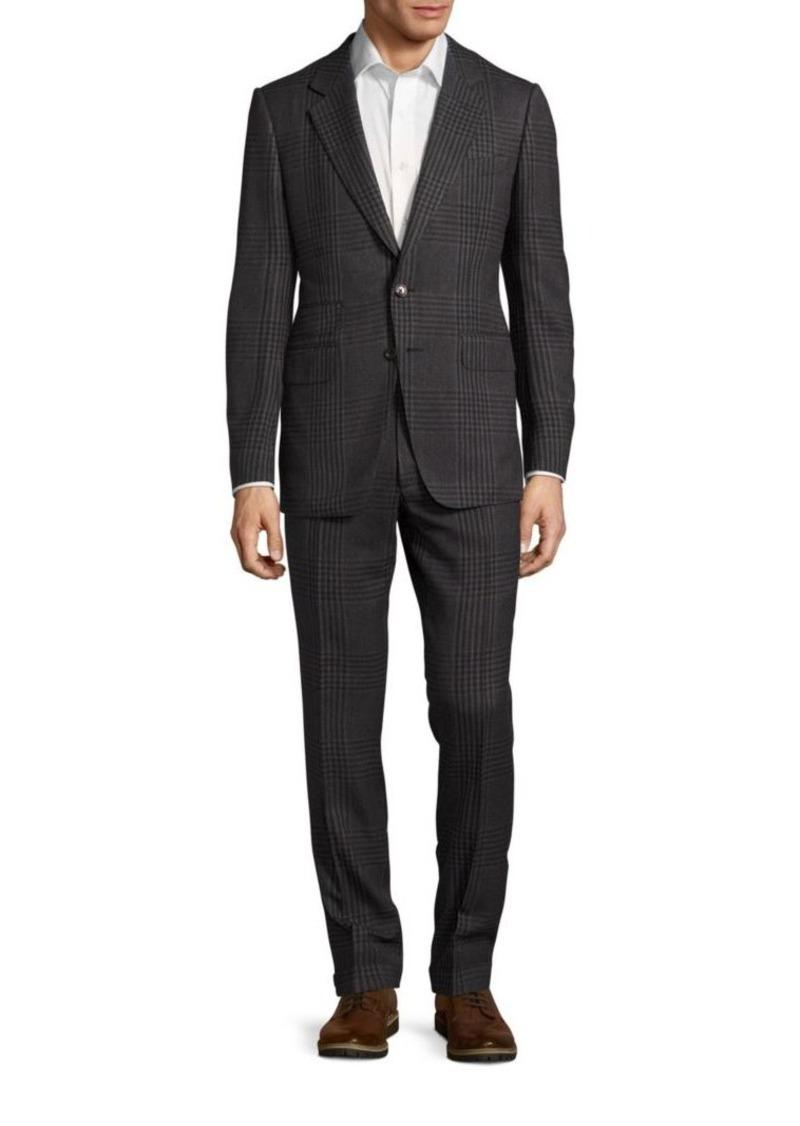 Tom Ford Classic-Fit Glen-Plaid Silk Suit
