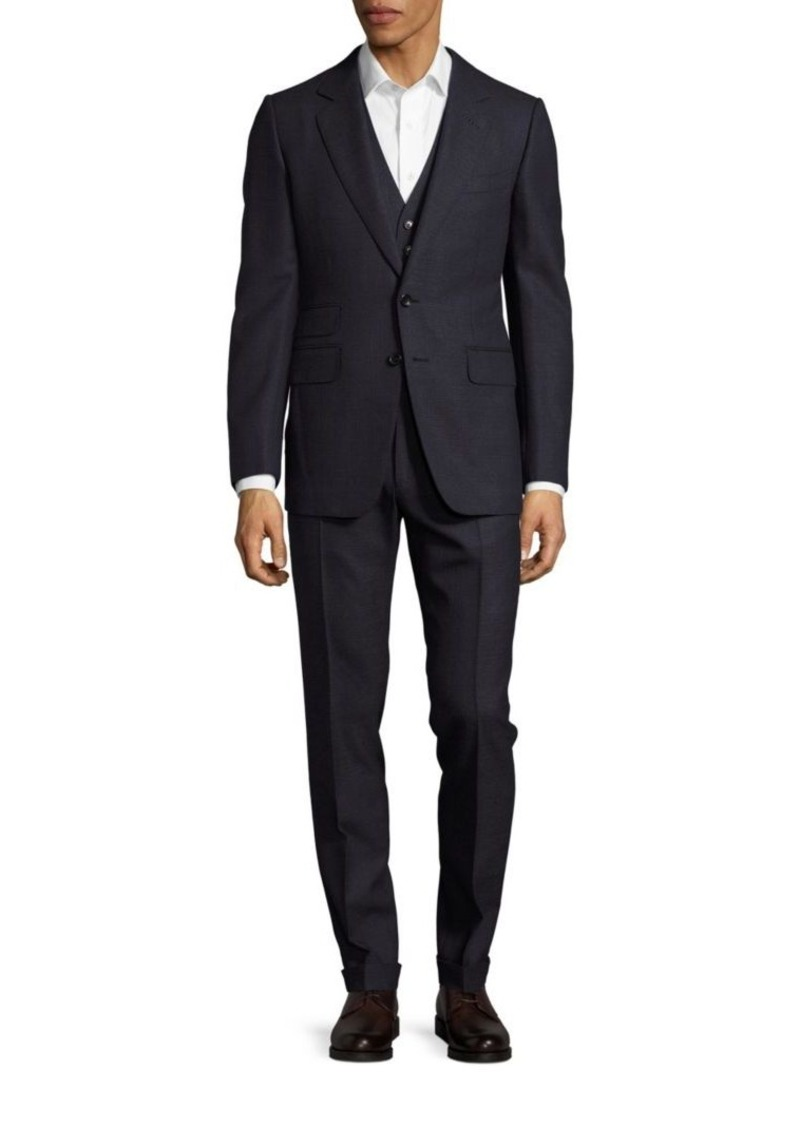 Tom Ford Classic-Fit Wool Plaid Three-Piece Suit