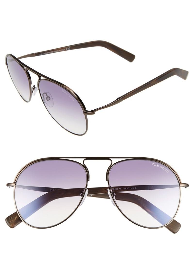 Tom Ford 'Cody' 56mm Aviator Sunglasses