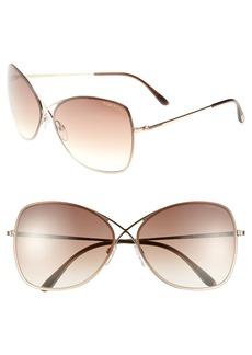 Tom Ford 'Colette' 63mm Oversize Sunglasses