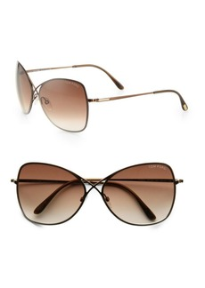 Tom Ford Colette Rimless Aviator Sunglasses