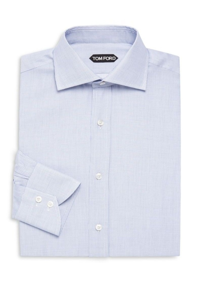 Tom Ford Cotton Check Dress Shirt