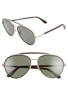 Tom Ford Curtis 59mm Aviator Sunglasses