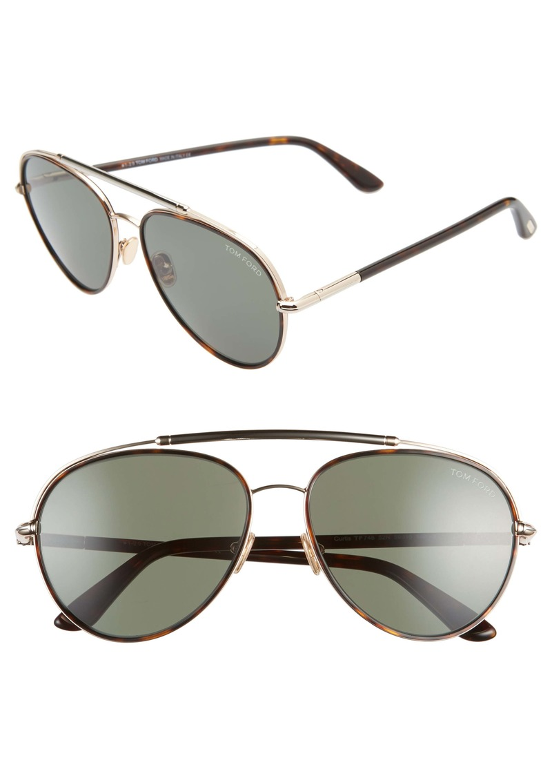 Tom Ford Curtis 59mm Aviator Sunglasses