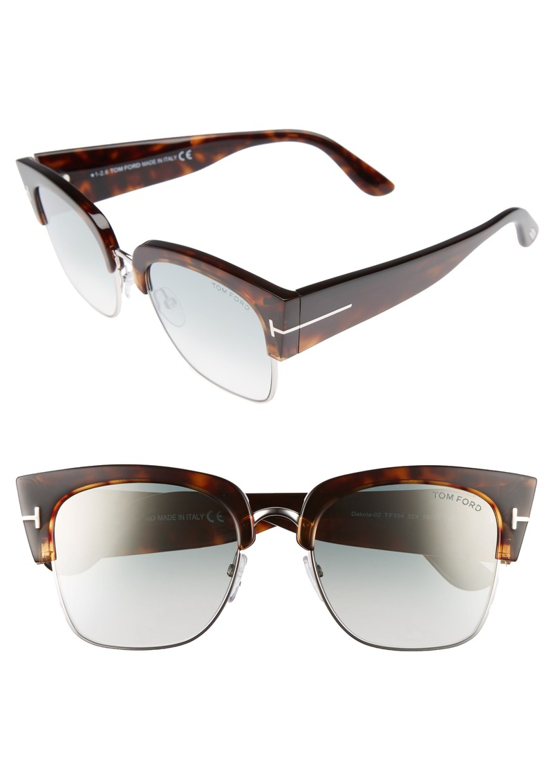 839ff33ec66 Tom Ford Tom Ford Dakota 55mm Gradient Square Sunglasses