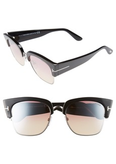 Tom Ford Dakota 55mm Gradient Square Sunglasses