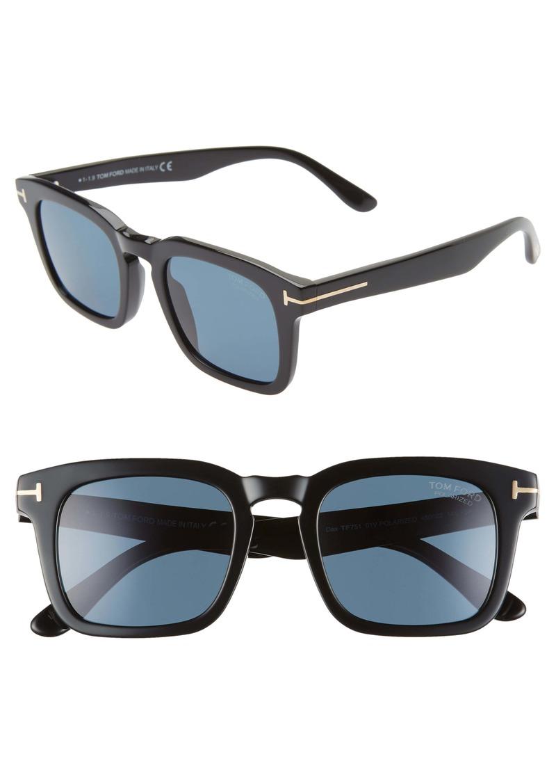 Tom Ford Dax 50mm Polarized Square Sunglasses