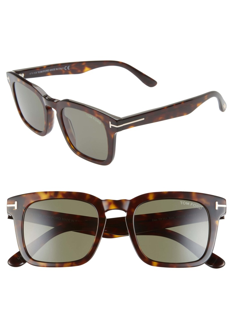 Tom Ford Dax 50mm Square Sunglasses