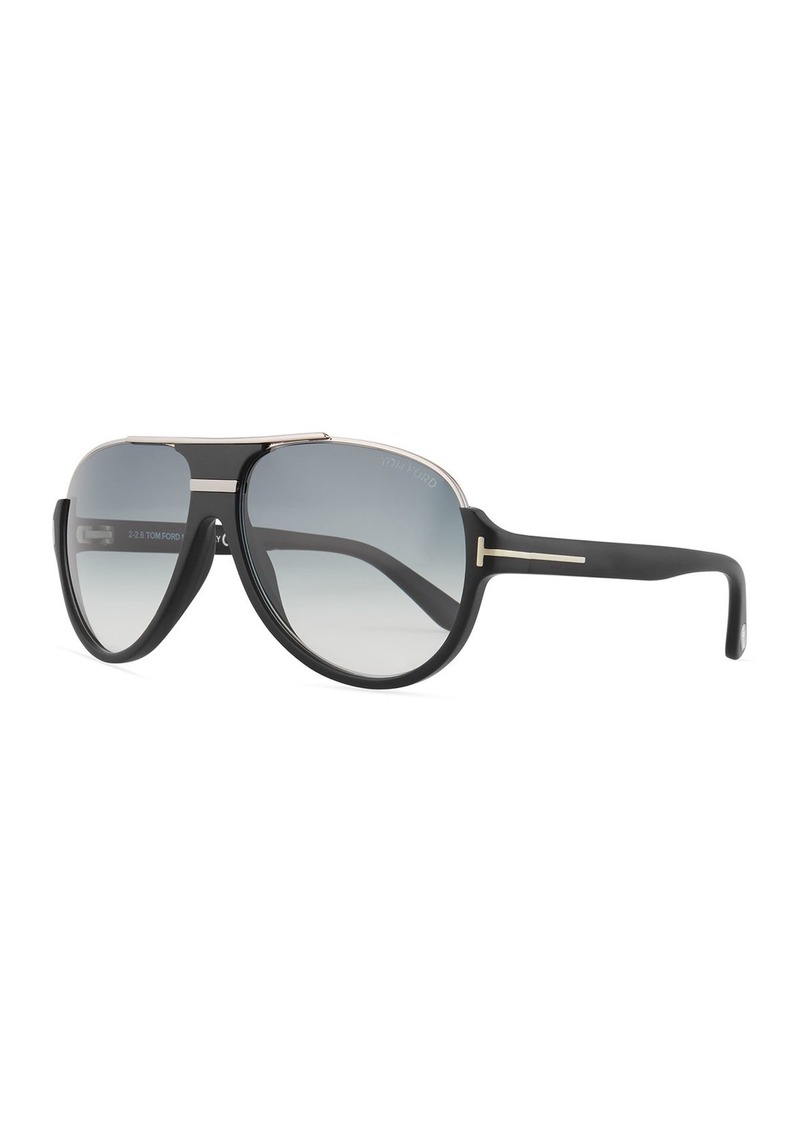 TOM FORD Dimitry Half-Rim Aviator Sunglasses