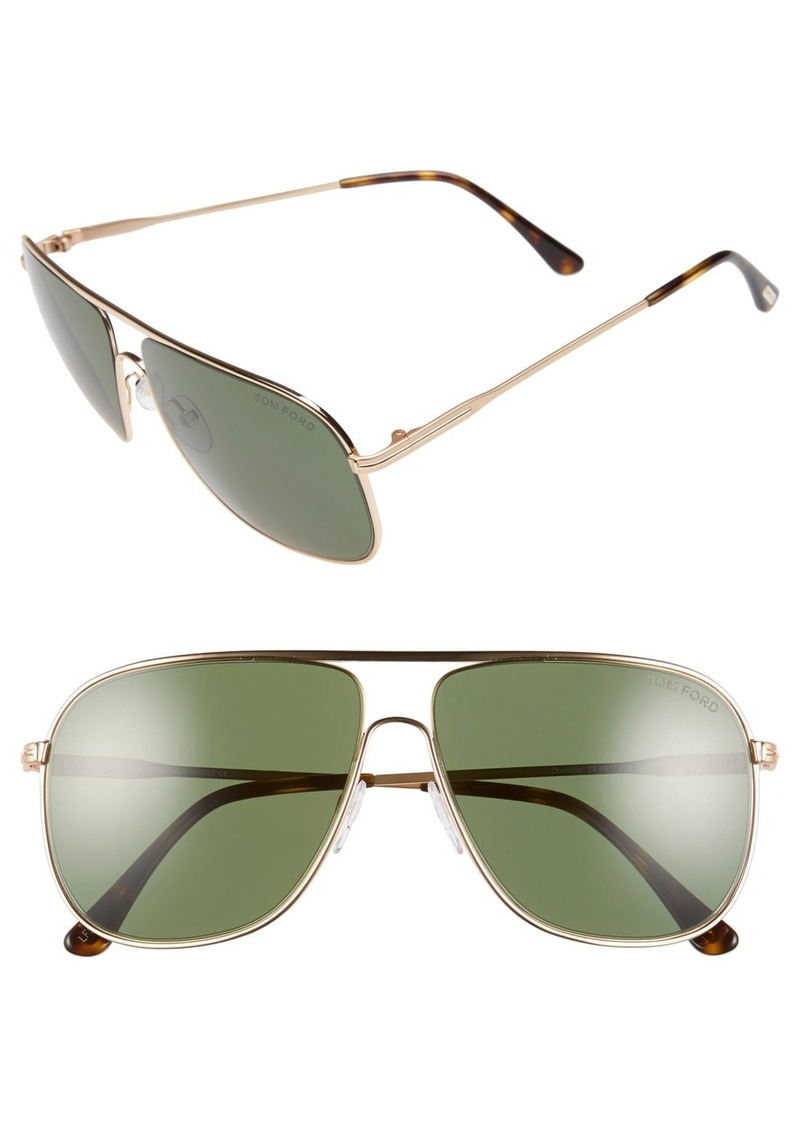 Tom Ford 'Dominic' 60mm Aviator Sunglasses