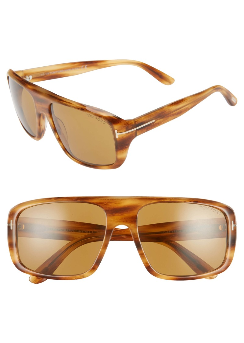 Tom Ford Duke 59mm Square Sunglasses