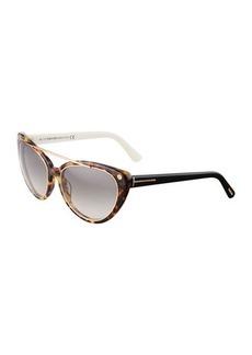 TOM FORD Edita Cat-Eye Sunglasses
