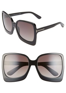 Tom Ford Emanuella RX-able 60mm Square Sunglasses