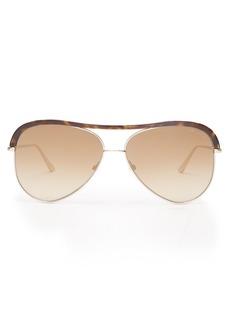 Tom Ford Eyewear Aviator-frame metal sunglasses
