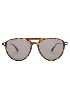 Tom Ford Eyewear Carlo aviator acetate sunglasses
