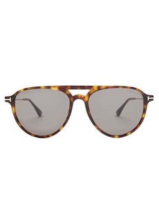 Tom Ford Eyewear Carlo aviator acetate sunglasses