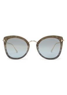 Tom Ford Eyewear Charlotte oversized cat-eye acetate sunglasses