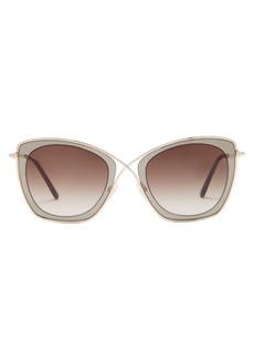 Tom Ford Eyewear India cat-eye metal sunglasses