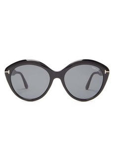 Tom Ford Eyewear Maxine T-monogram round acetate sunglasses