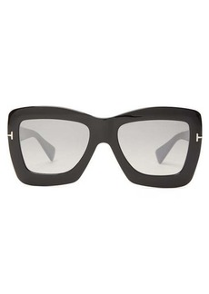 Tom Ford Eyewear Oversized acetate butterfly sunglasses