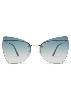 Tom Ford Eyewear Presley rimless cat-eye sunglasses