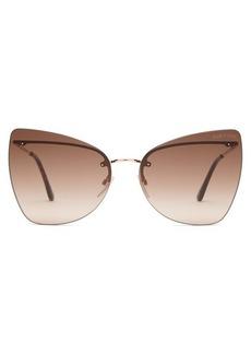 Tom Ford Eyewear Presley rimless metal sunglasses