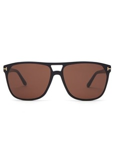 Tom Ford Eyewear Shelton tortoiseshell aviator sunglasses