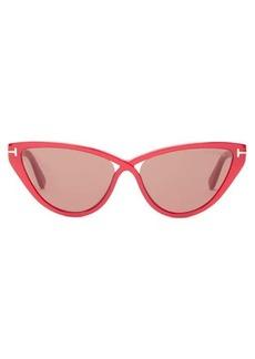 Tom Ford Eyewear T-monogram cat-eye acetate sunglasses