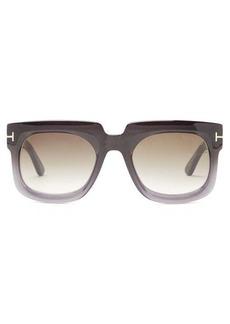 Tom Ford Eyewear T-monogram square acetate sunglasses