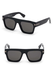 Tom Ford Fausto 53mm Flat Top Sunglasses