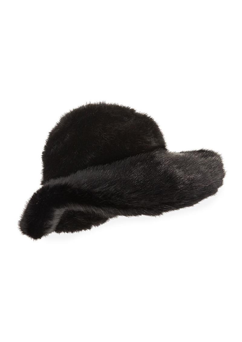 TOM FORD Faux-Mink Large Brim Hat