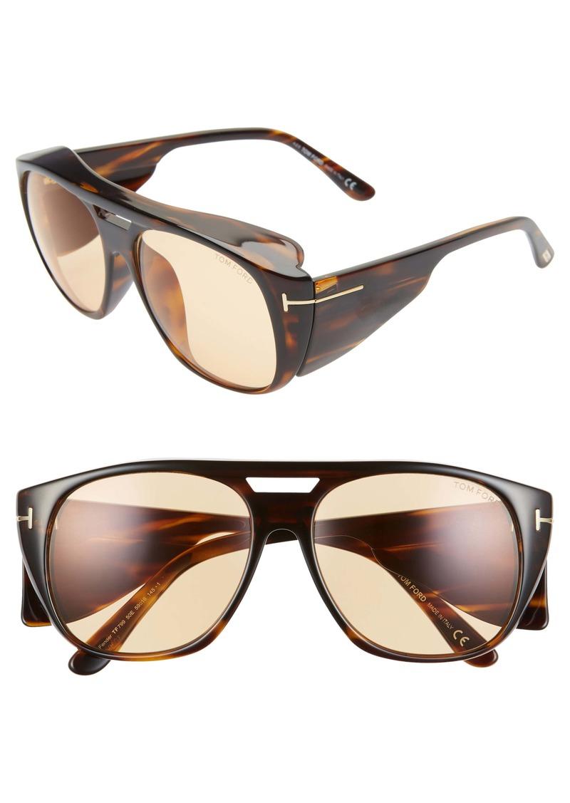 Tom Ford Fender 56mm Square Sunglasses