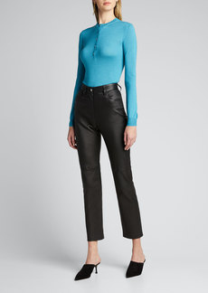 TOM FORD Fine Cashmere-Silk Henley Top