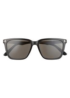 Tom Ford Garrett 54mm Polarized Square Sunglasses