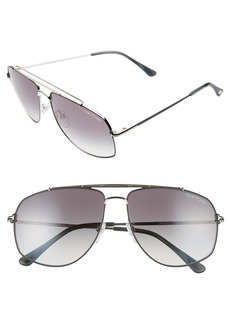 Tom Ford Georges 59mm Aviator Sunglasses
