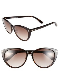 Tom Ford 'Gina' 57mm Cat Eye Sunglasses