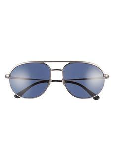 Tom Ford Gio 59mm Aviator Sunglasses