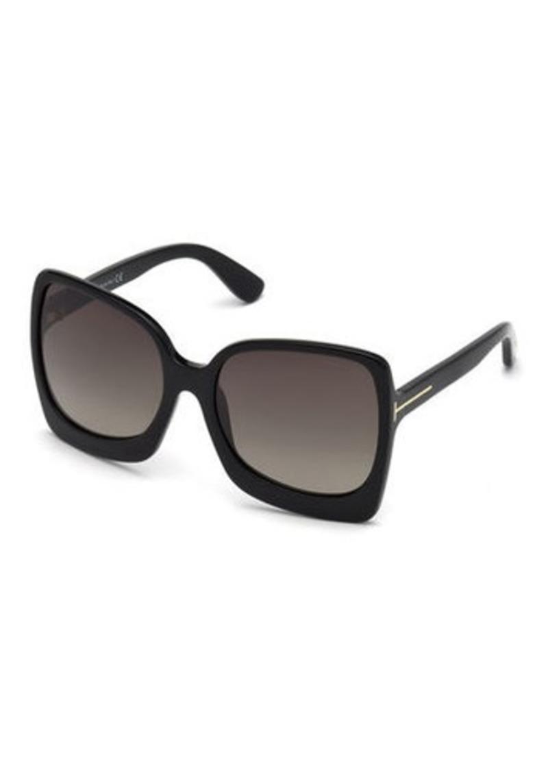 TOM FORD Gradient Square Acetate Sunglasses
