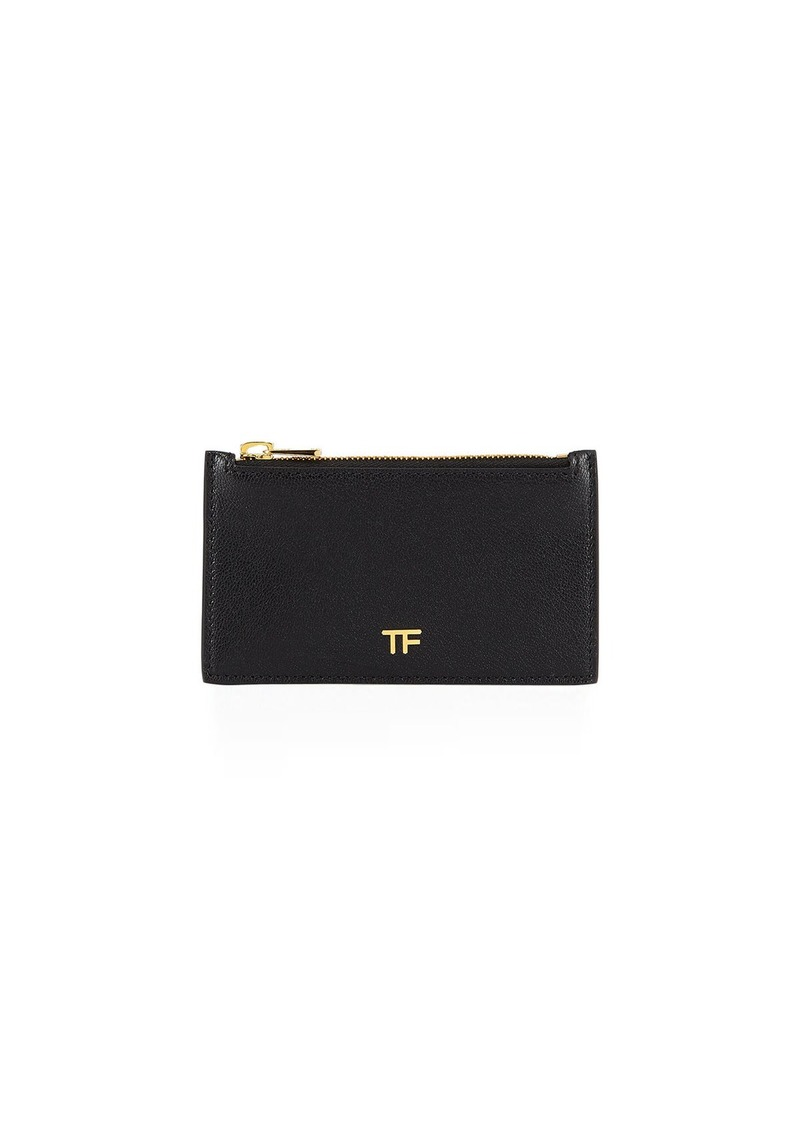 TOM FORD Grain Large Zip Wallet