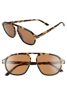 Tom Ford Harrison 57mm Navigator Sunglasses