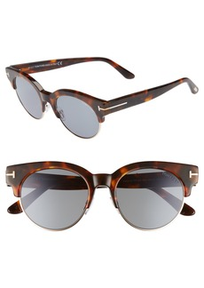 Tom Ford Henri 52mm Semi-Rimless Sunglasses