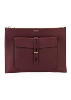 TOM FORD Hollywood Flat Leather Pouch Bag