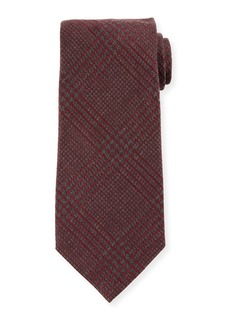 TOM FORD Houndstooth Silk/Wool Tie  Red