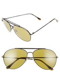 Tom Ford Indiana 58mm Barberini Lens Aviator Sunglasses