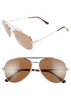 Tom Ford Indiana 58mm Polarized Aviator Sunglasses