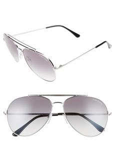 Tom Ford Indiana 60mm Aviator Sunglasses